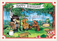 Zydeco Birthday Celebration, Birthday Card