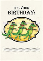 Vaudeville Alligator Dance Birthday Card