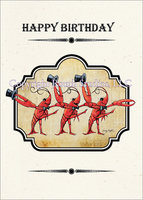Vaudeville Crawfish Dance Birthday Card