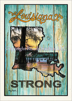 """Louisiana Strong"" Single Card"