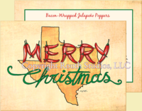 """Texas Chili Pepper Christmas"" Christmas Cards, #CTX17A"