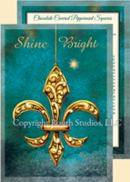 """Shine Bright Fleur-de-lis"" Christmas Cards"