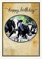 """Holstein Herd Birthday"" Birthday Card"