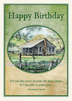 """Old Farm House Birthday"" Birthday Card"
