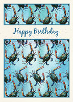 """Crabby Revolution Birthday"" Birthday Card"