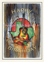 """Timeless Texas Birthday"" Birthday Card"