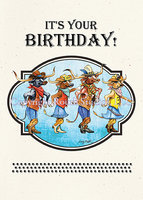 """Longhorn Line Dance Birthday"" Birthday Card"