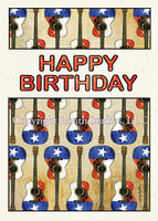 """Texas Flag Guitars Birthday"" Birthday Card"