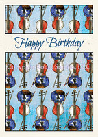 """Texas Birthday Fiddles"" Birthday Card"