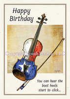 """Texas Birthday Fiddle"" Birthday Card"