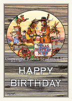 """Texas Birthday Band"" Birthday Card"