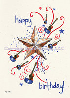 """Texas Birthday Star Blast"" Birthday Card"