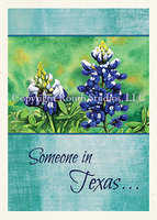 """Bluebonnet"" Missing You Card"