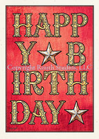 """Engraved Gold Birthday"" Birthday Card"
