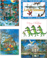 """Bayou Christmas Assortment"" Christmas Cards, #C16ASST"