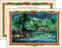 """Moonlight Bayou Delivery"" Christmas Cards"