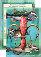 """Christmas Lure-de-lis"" Christmas Cards"