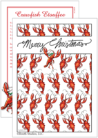 """Crawfish Christmas Revolution"" Christmas Cards"