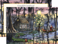 """Swamp Cabin Christmas"" Christmas Cards"