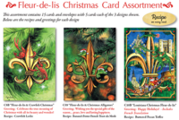 """Fleur-de-lis Assortment"" Christmas Cards"