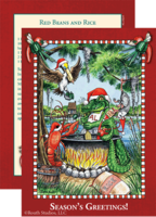 """Flaming Hot Cajun Christmas"" Christmas Cards"