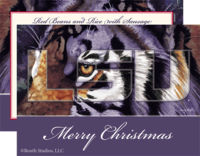 """Tiger on the Prowl"" Christmas Cards"