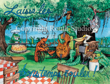 quot zydeco party quot  note cards routh studios  llc lsu clipart borders lsu clip art free