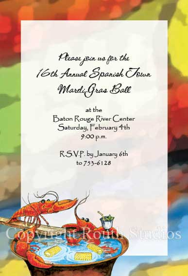 Crawfish Boil Invitations Routh Studios LLC