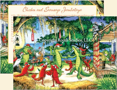 click images for larger view - Christmas On The Bayou