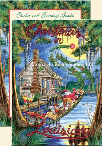 u0026quot santa u0026 39 s swamp cabin u0026quot  christmas cards