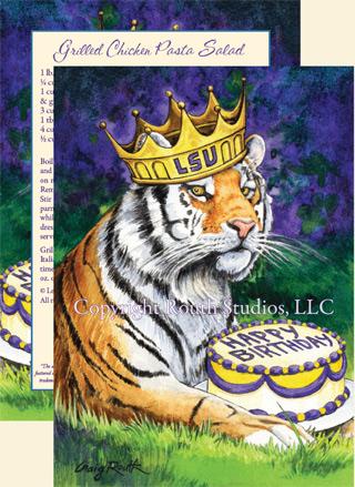 Royal Birthday Tiger Birthday Card Routh Studios Llc