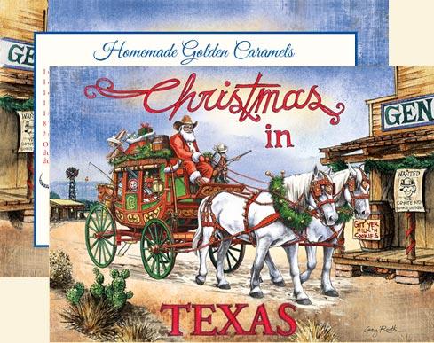 santas stagecoach express texas christmas cards cw14sse - Texas Christmas Cards
