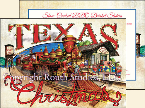 Texas north pole train station christmas cards ctx15ts routh click images for larger view christmas cards m4hsunfo