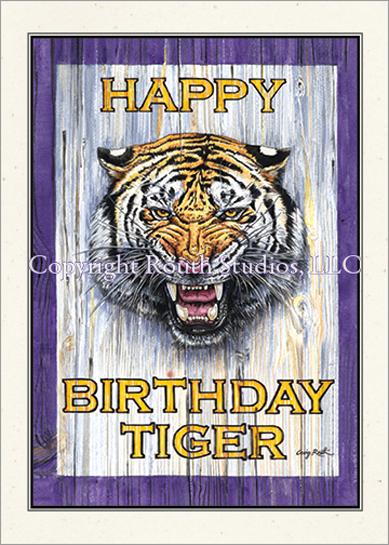 Tiger Roar Birthday Card Routh Studios Llc