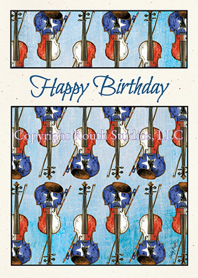 Texas birthday fiddles birthday card routh studios llc click to view image larger bookmarktalkfo Gallery
