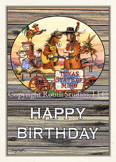 Texas birthday band birthday card routh studios llc click to view image larger bookmarktalkfo Gallery